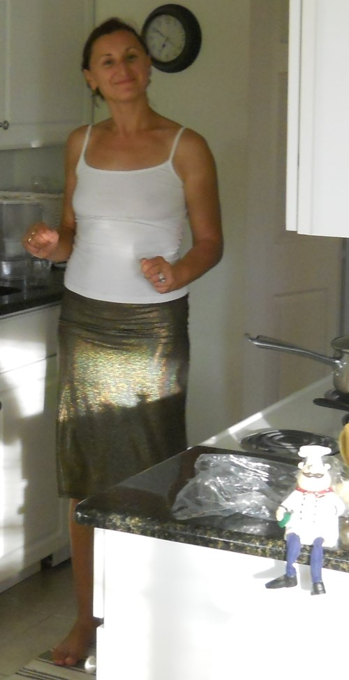 hot wife beautiful girl cooking