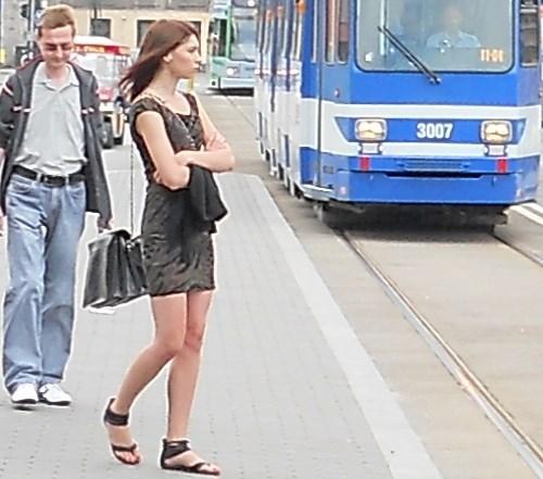 Mobile girl in Bulgaria