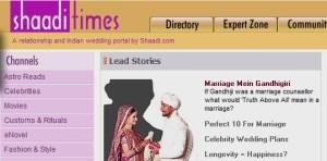 Shaadi times marriage portal