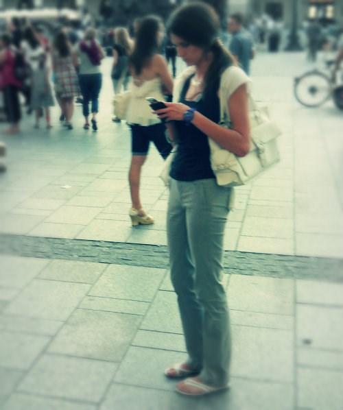 thin girl long hair