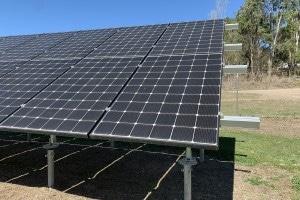 Constructed Floating Wetlands Solar Panels