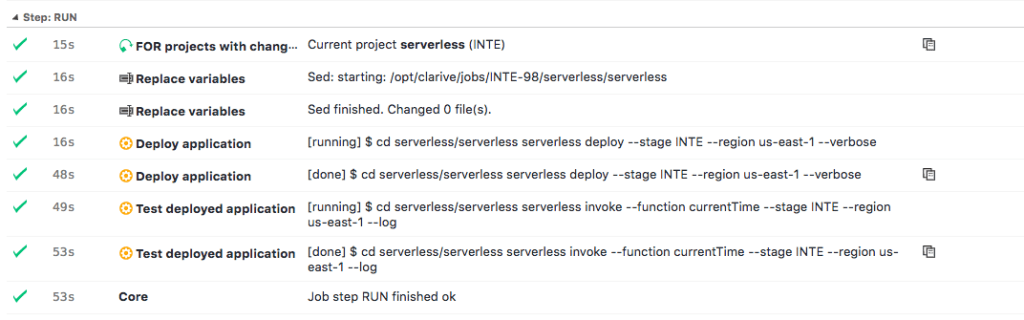 clarive serverless pipeline message decorator