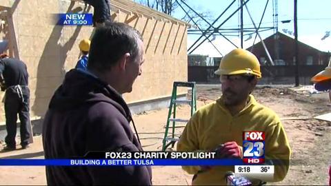 Clark helps build Habitat house in Tulsa, OK