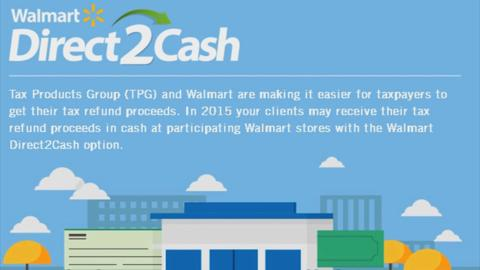 Cash your tax refund at Walmart for free