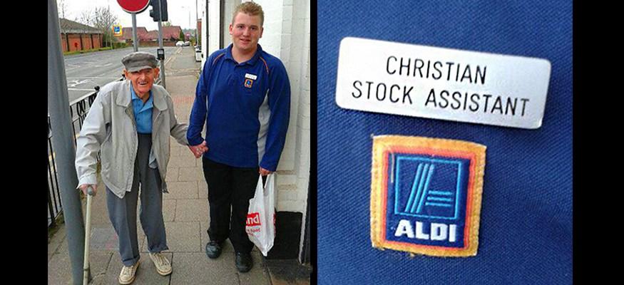 Teen Grocery Clerk Walks Elderly Man Home