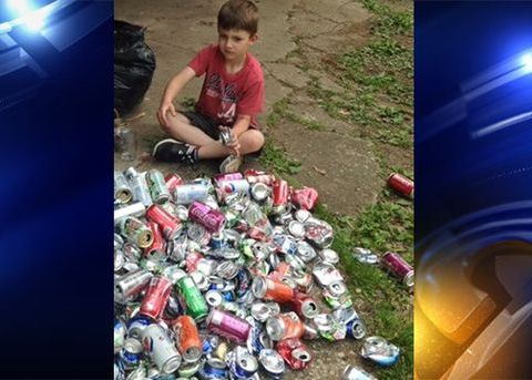 6-year-old recycles cans, donates $100 to help others get school supplies