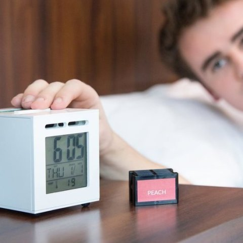 This alarm clock wakes you up with your favorite smell