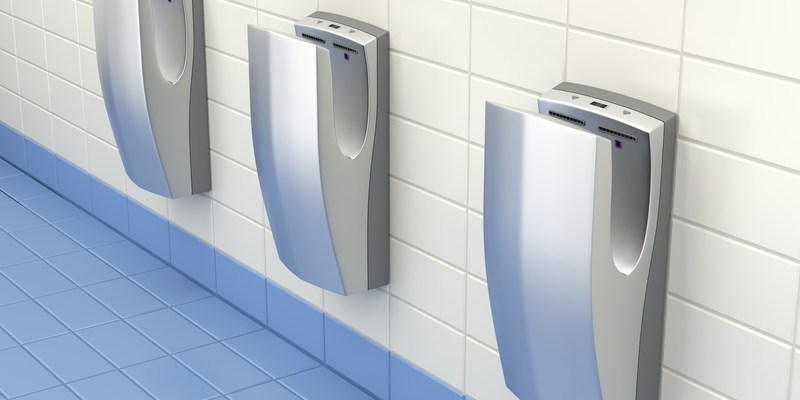 Study: Jet air hand dryers spread 1,300 times more germs than paper towels