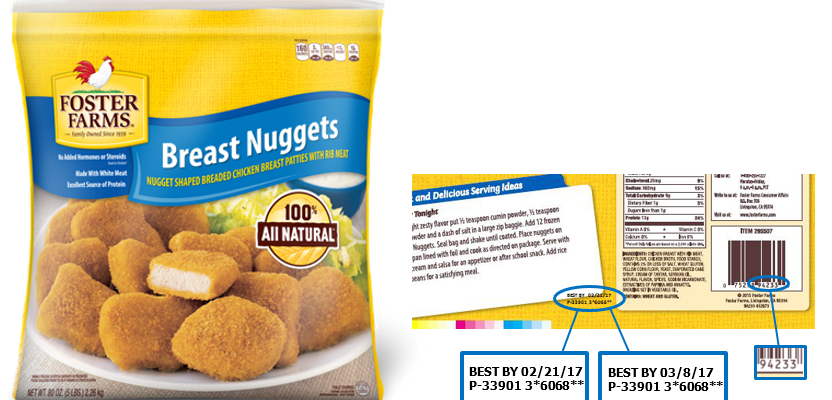 Foster Farms recalls chicken nuggets over possible choking hazard