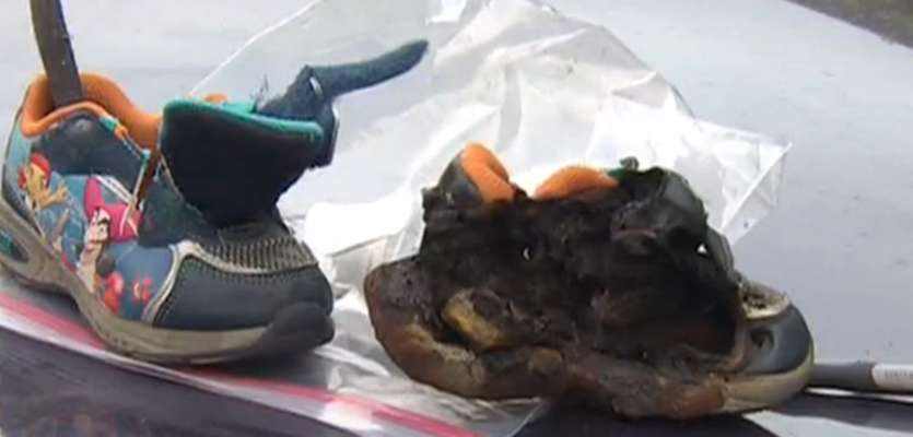 Toddler's light-up shoe may have sparked SUV fire, family says