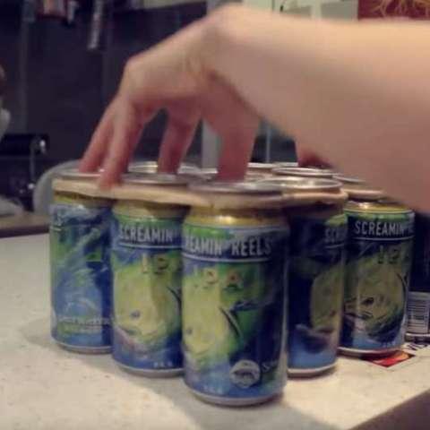 Brewery creates eco-friendly, edible six-pack beer rings