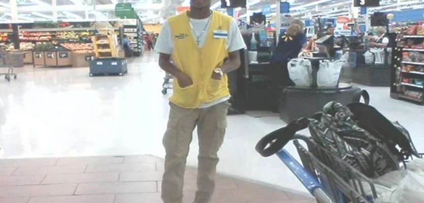 Walmart worker gives his shoes to homeless man