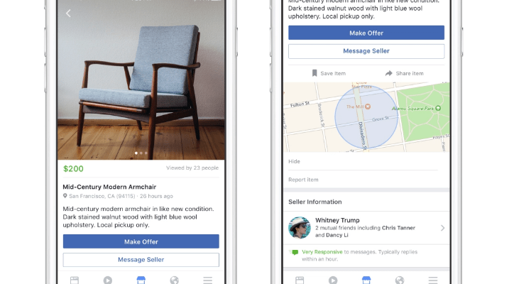 Facebook's new Marketplace feature allows you to buy and sell stuff in your area