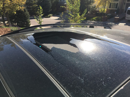 Sunroofs can suddenly explode while you're driving