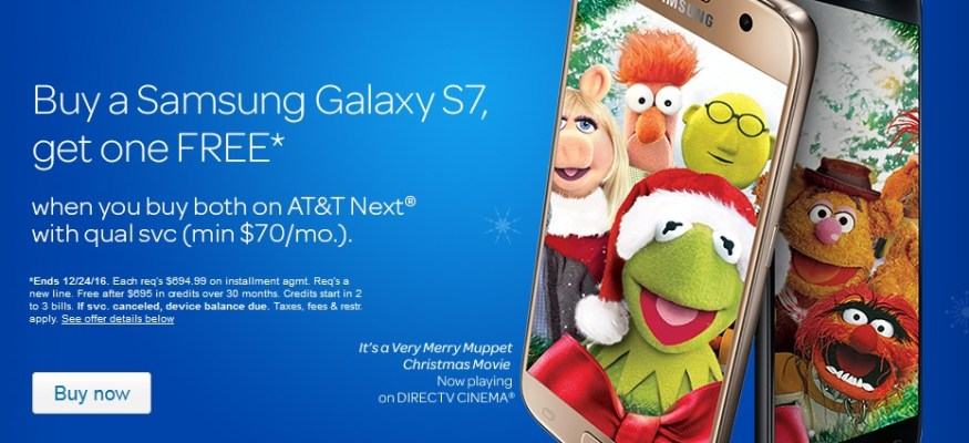 buy one get one free smartphone offer from att good through christmas eve