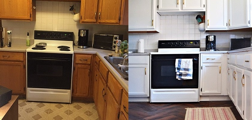 This kitchen makeover only cost $100