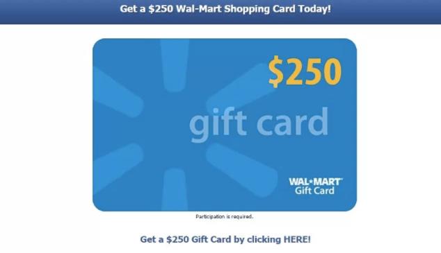 Website viewer giveaways for $500.00 walmart cards
