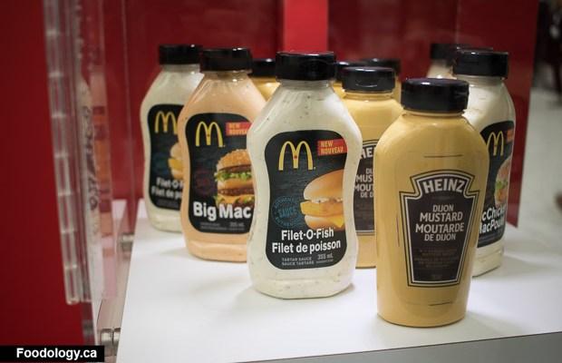 McDonald's sauces in a bottle