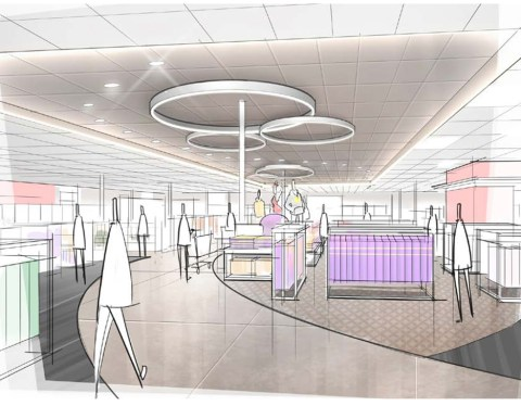 Artist rendering of Target's curved center aisle plan