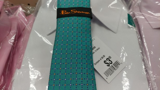 $3.99 Ben Sherman tie at Roses