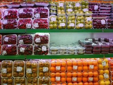produce at supermarket