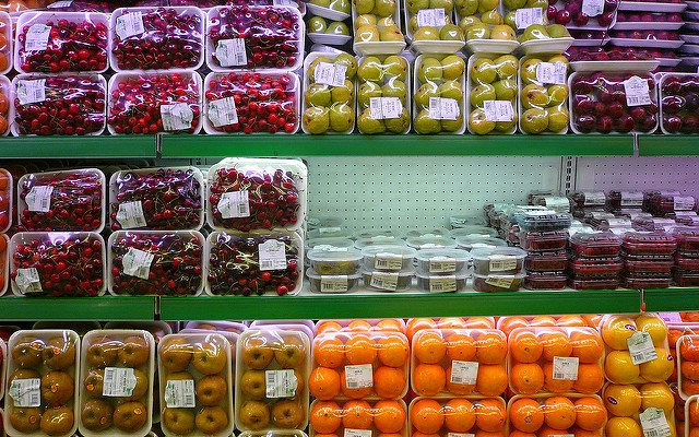 produce at supermarket