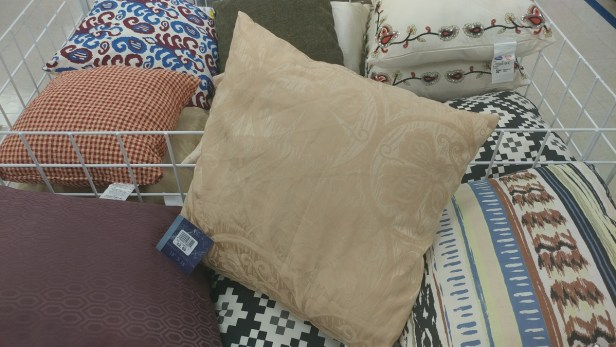 $2.50 throw pillow at Roses