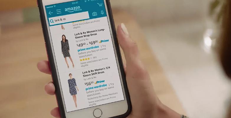 Amazon Wardrobe on smartphone