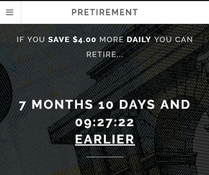 Pretirement: Your free financial independence countdown clock