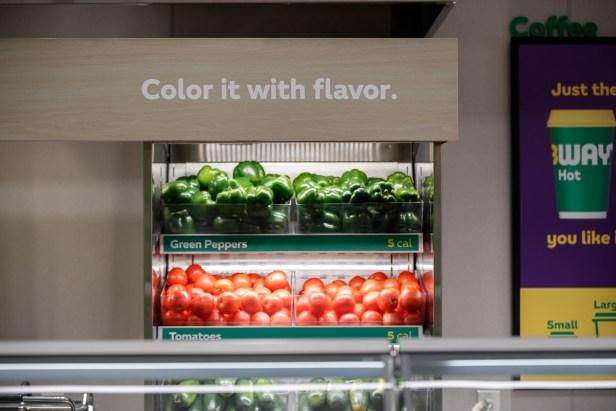 Subway fresh vegetables