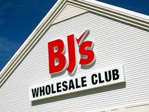 BJ's Wholesale logo on storefront via Dreamstime