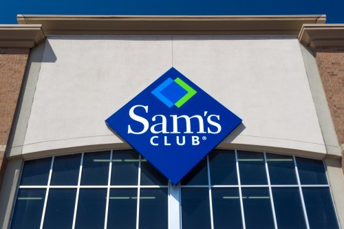 Sam's Club logo on storefront via Dreamstime