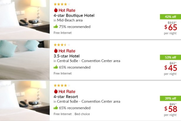 Hotwire search results