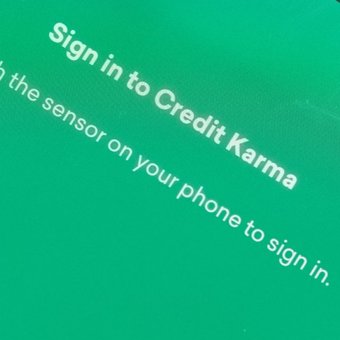 Credit Karma homescreen