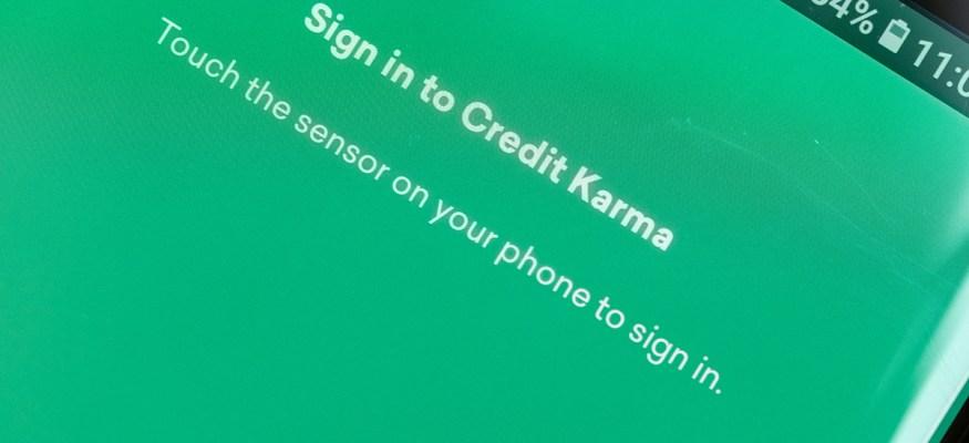 Credit Karma homescreen