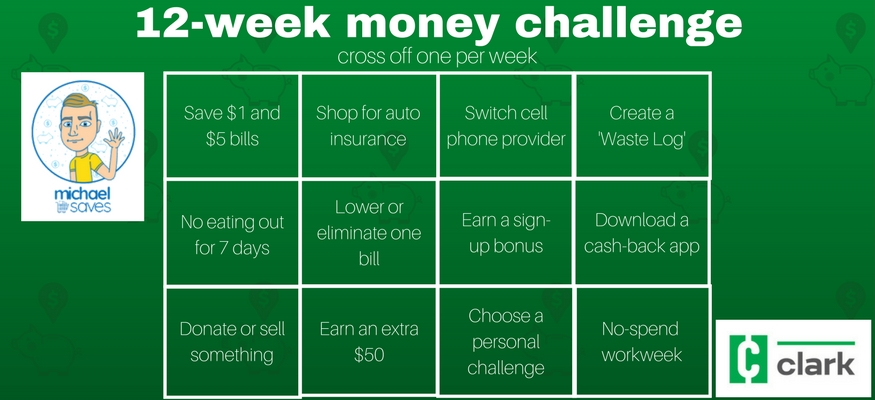Save $1,000 in 2018 with the 12-week money challenge