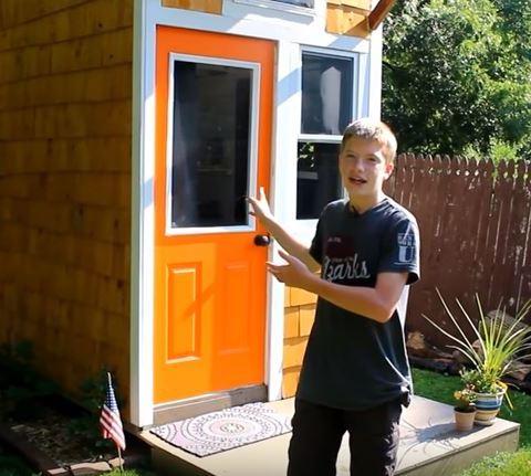Boy builds tiny house