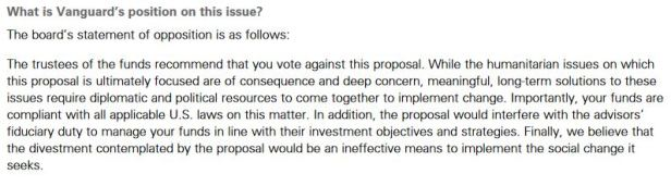 Vanguard reply to Proposal 7