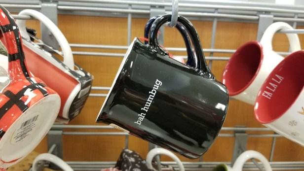 T.J. Maxx holiday coffee mugs starting at $2.99 (bah humbug)
