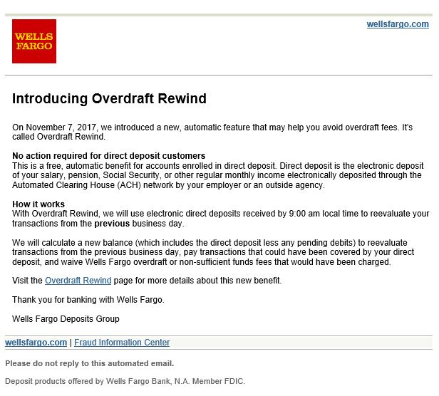 Wells Fargo offers a new way to get out of overdraft charges - Clark