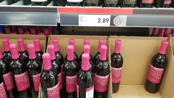 Lidl sweet red wine