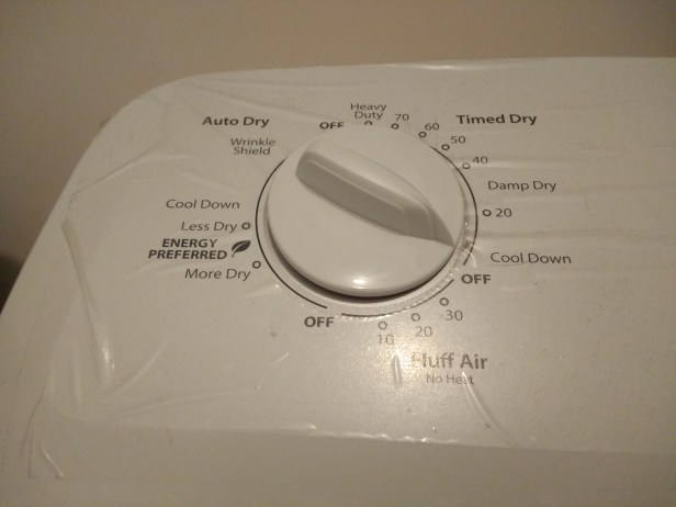 damp dry setting on washing machine