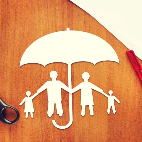 Term life insurance family under umbrella