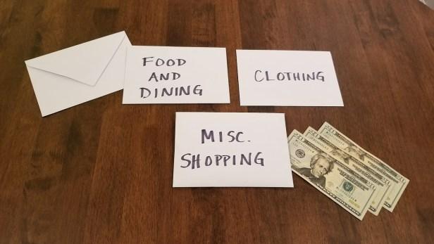 Cash envelope budgeting system