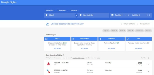 Search Google Flights and Southwest.com early and often for the lowest fares.