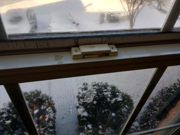 broken lever on window