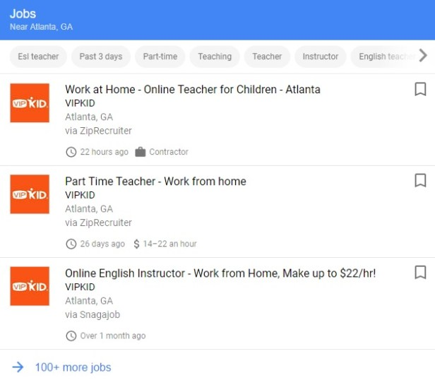 Use Google to search for jobs