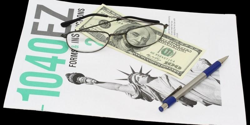 IRS tax form 1040 EZ