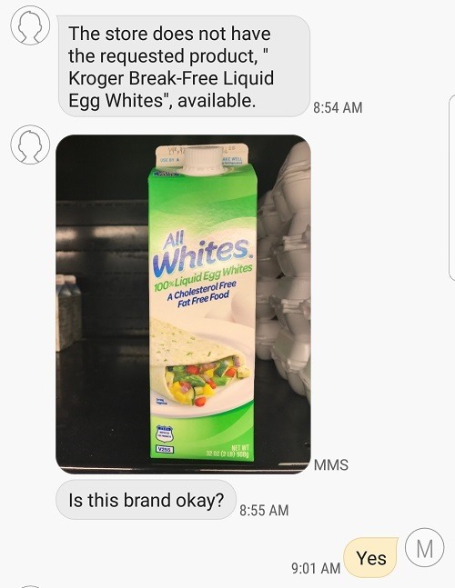 You can receive texts from your Shipt shopper