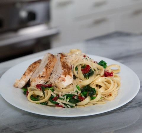 basic chicken fettuccine